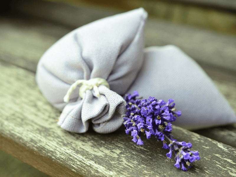 A pair of dream pillows with lavender