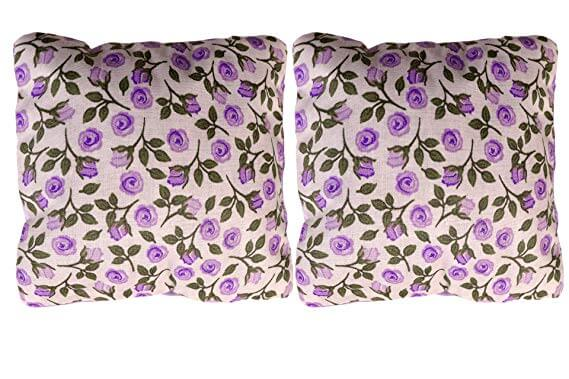 two dream pillows with a floral print