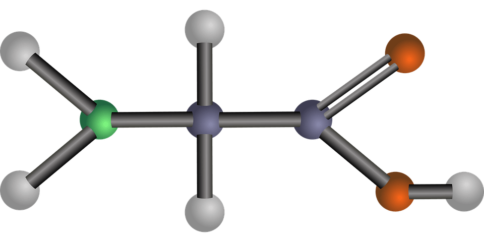 Chemical structure of amino acid Glycine