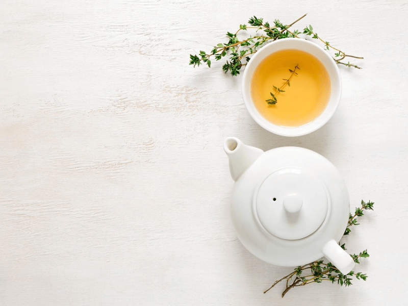 A cup of L-Theanine-rich green tea