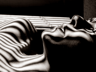 woman sleeping with open blinds
