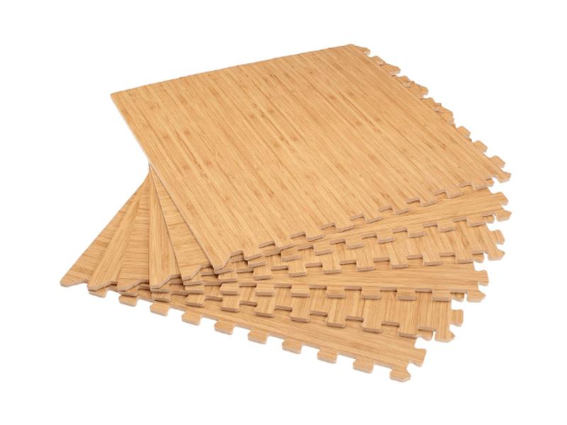 Forest Floor Printed Wood Grain Interlocking Foam Floor Mats product image