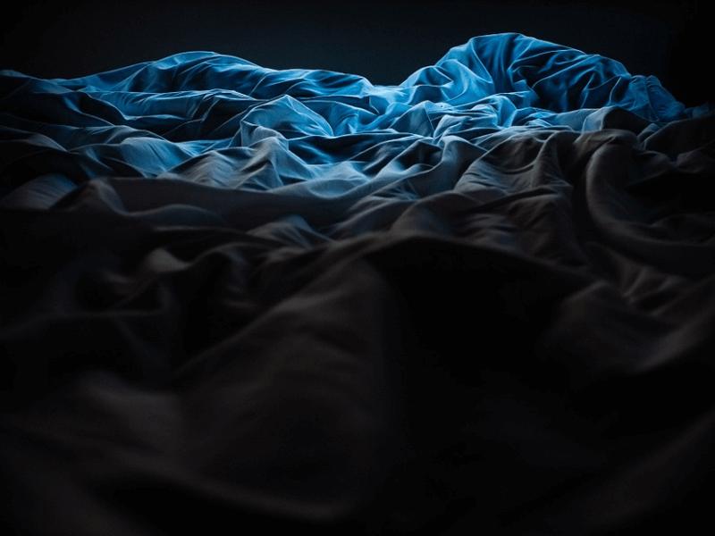 Crumpled blankets