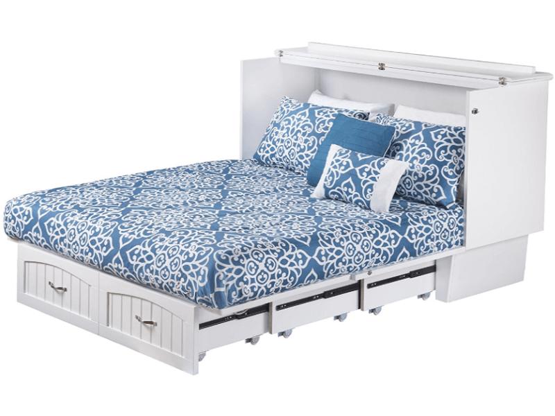 Atlantic Furniture Nantucket murphy bed, opened