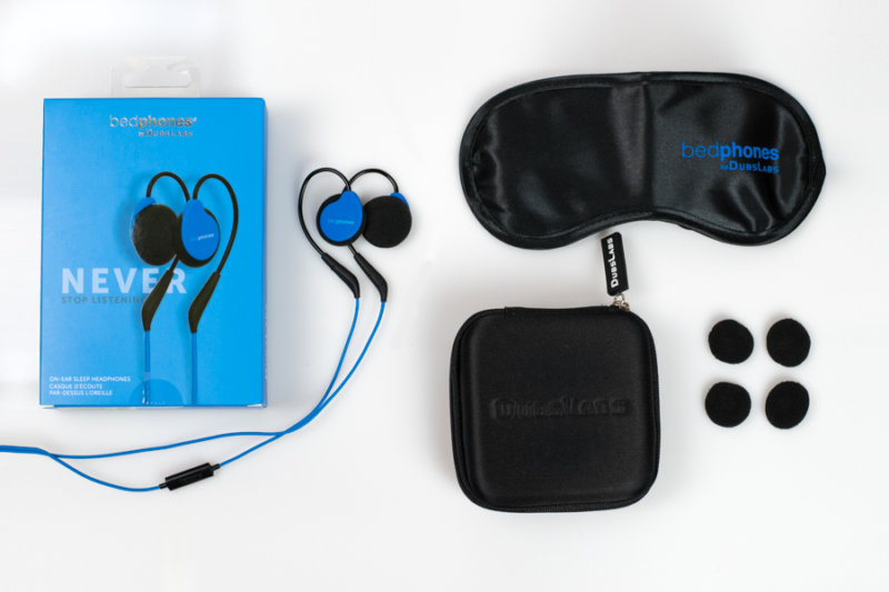 DubsLabs Bedphones with packaging, carrying case and add-ons