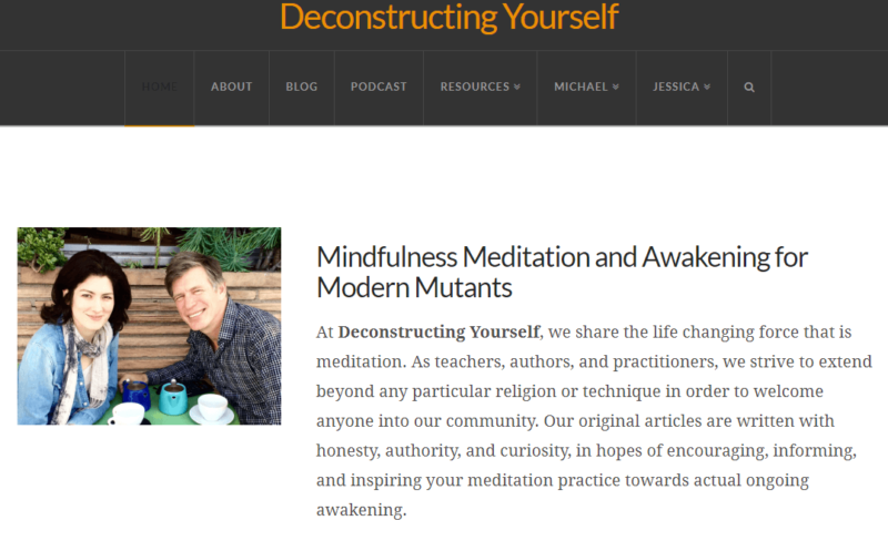 Deconstructing Yourself website landing page