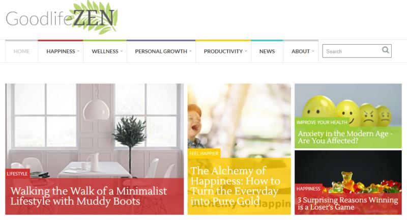Goodlife ZEN website landing page