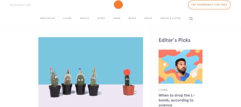 The Orange Dot website landing page