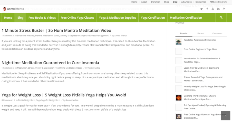 Anmol Mehta's yoga meditation blog