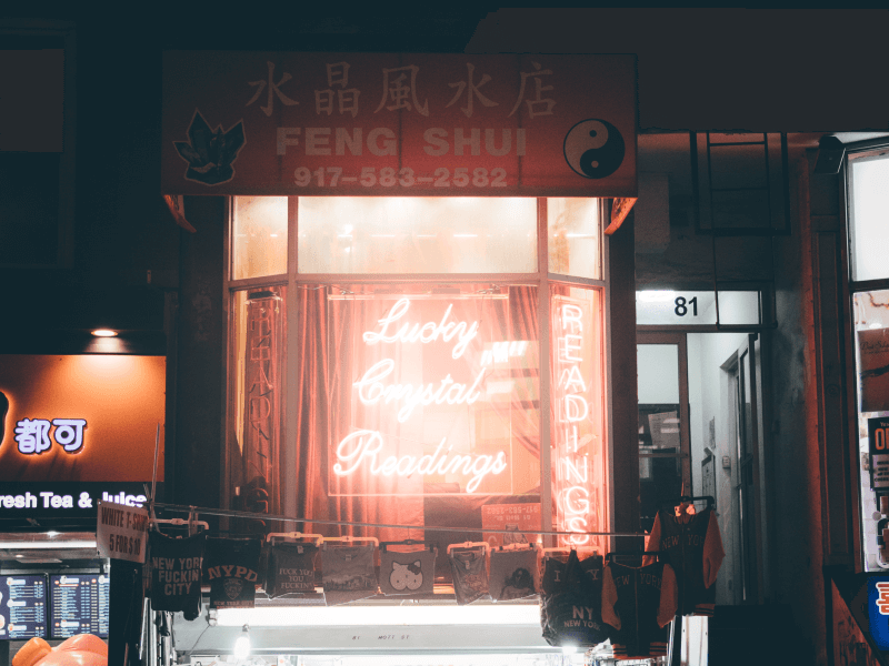 Storefront of a feng shui shop
