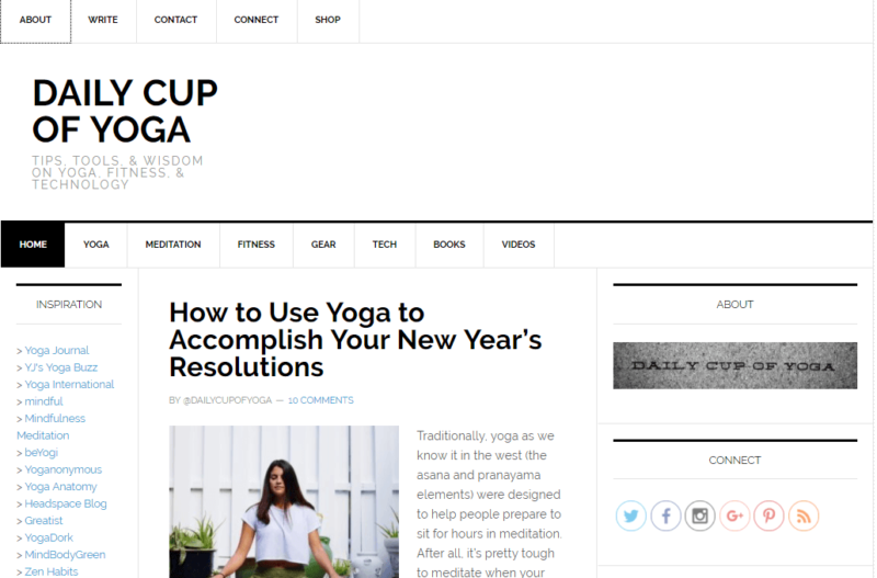 Daily Cup of Yoga's yoga meditation blog