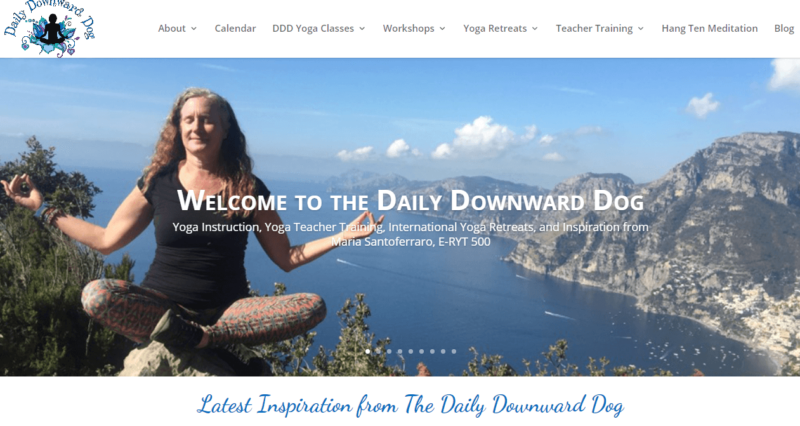 The Daily Downward Dog's yoga meditation blog