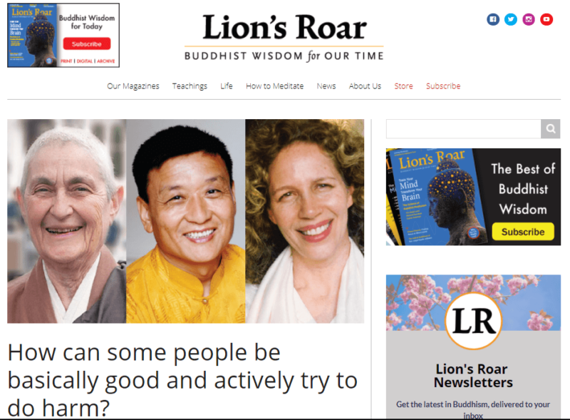 Lion's Roar, a nonprofit buddhist blog