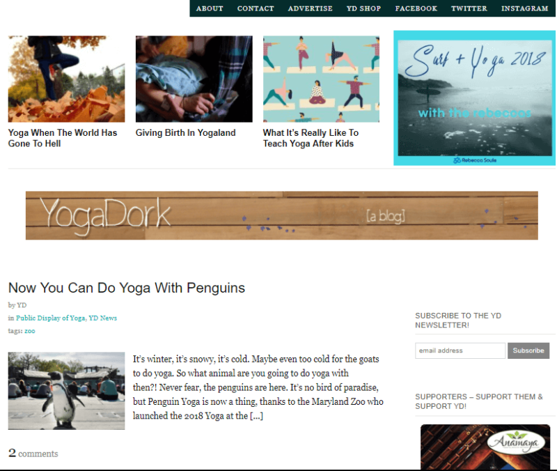 Yoga Dork's fun yoga meditation blog