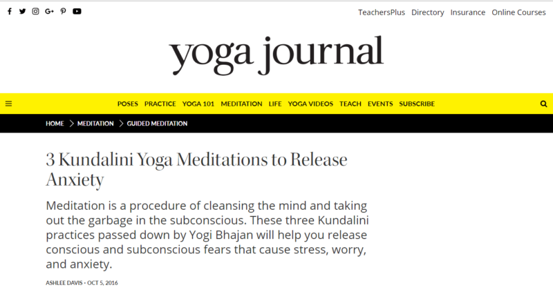 Yoga Journal's blog on yoga meditation