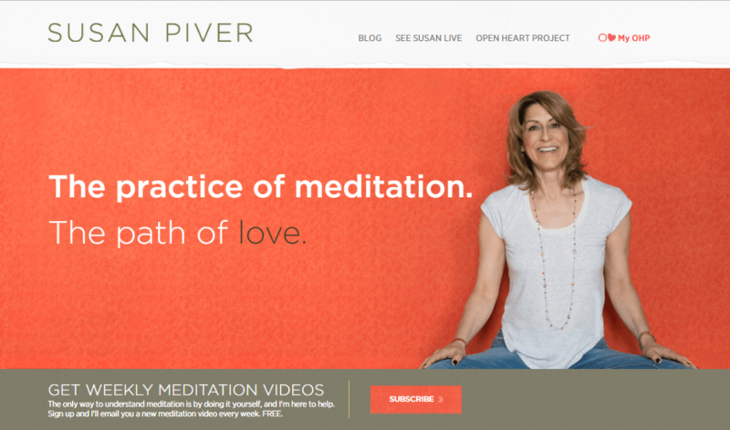 Susan Piver's website homepage