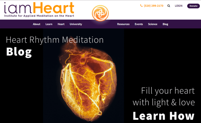 iamHeart website front page