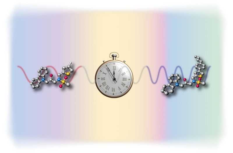 illustration of pocket watch surrounded by gene representations
