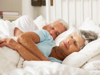 old couple sleeping