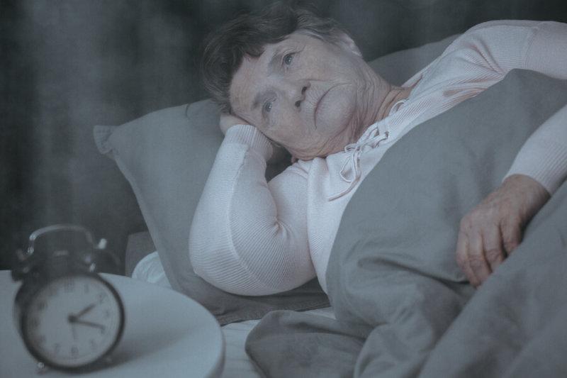 sleepless old woman
