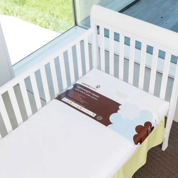 Lightweight Organic Cotton Classic Crib Mattress in Crib 1