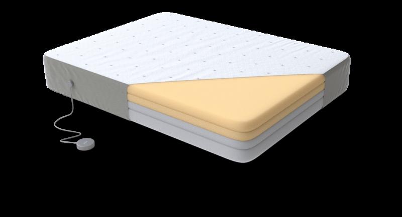 Eight Jupiter+ smart mattress interior layers