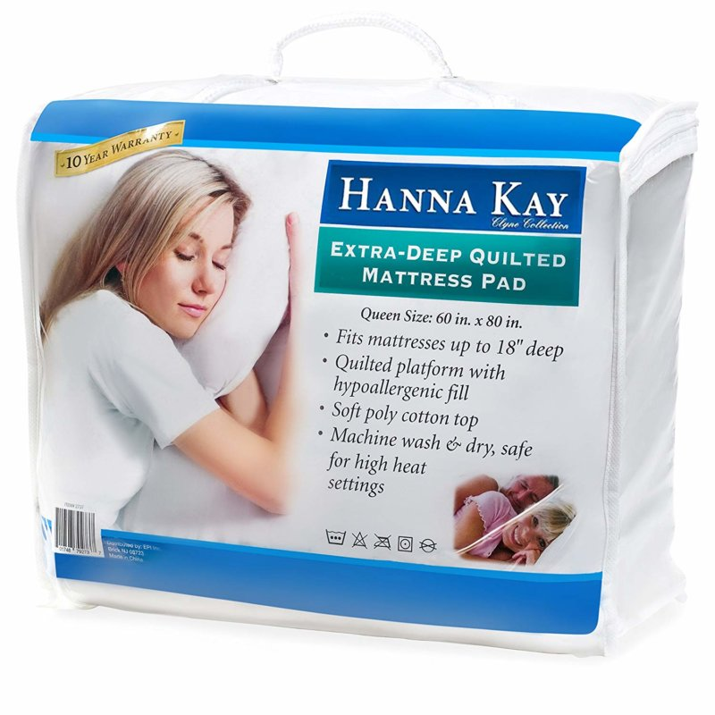 Hanna Kay mattress pad in packaging