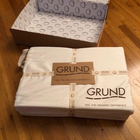 Grund America Savannah sheets packaging