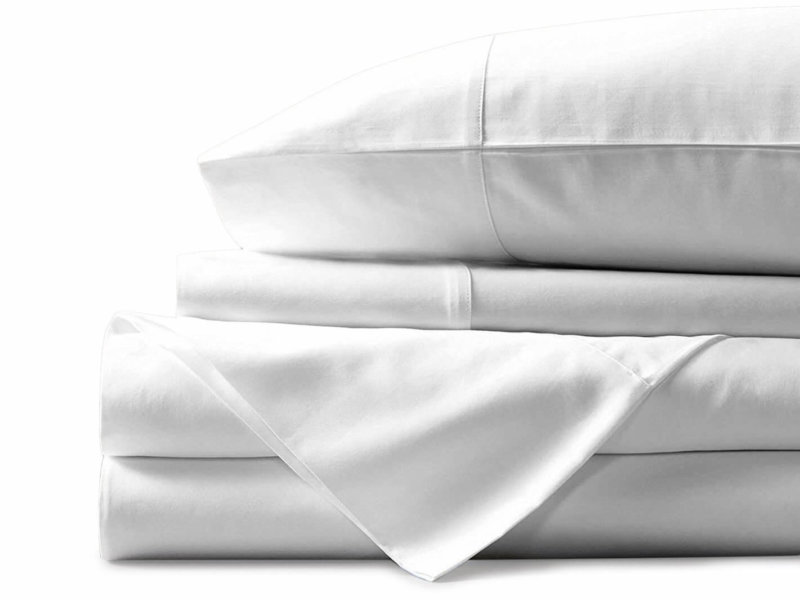 Mayfair Linen Egyptian cotton sheet set in white