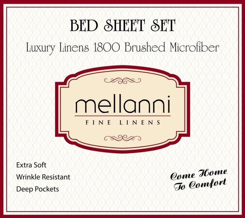 Mellanni Bed Sheet Set label