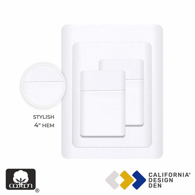 California Design Den Everyday Luxury sheet set separates