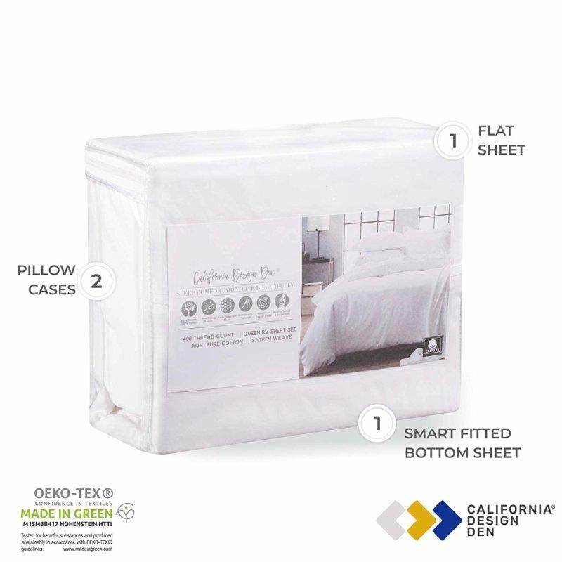 California Design Den Everyday Luxury sheet set in packaging