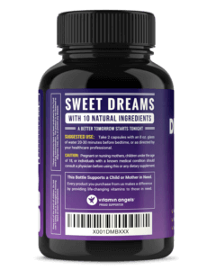 NutraChamps DreamRite bottle instructions label