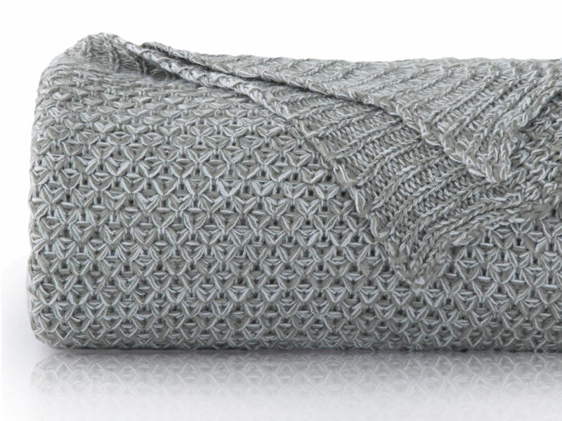 Bedsure Grey Knit Throw Blanket