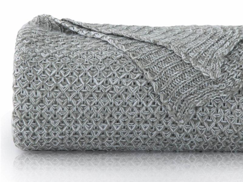 Bedsure Grey Knit Throw Blanket