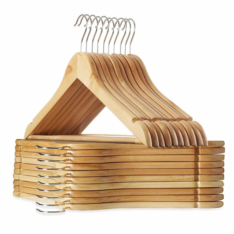 Casafield 20 Natural Wooden Suit Hangers
