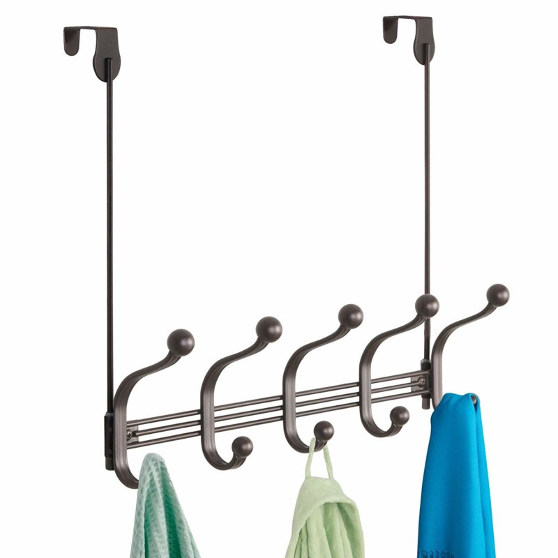InterDesign York Metal 5-Hook Over-the-Door