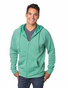 man wearing green hoodie