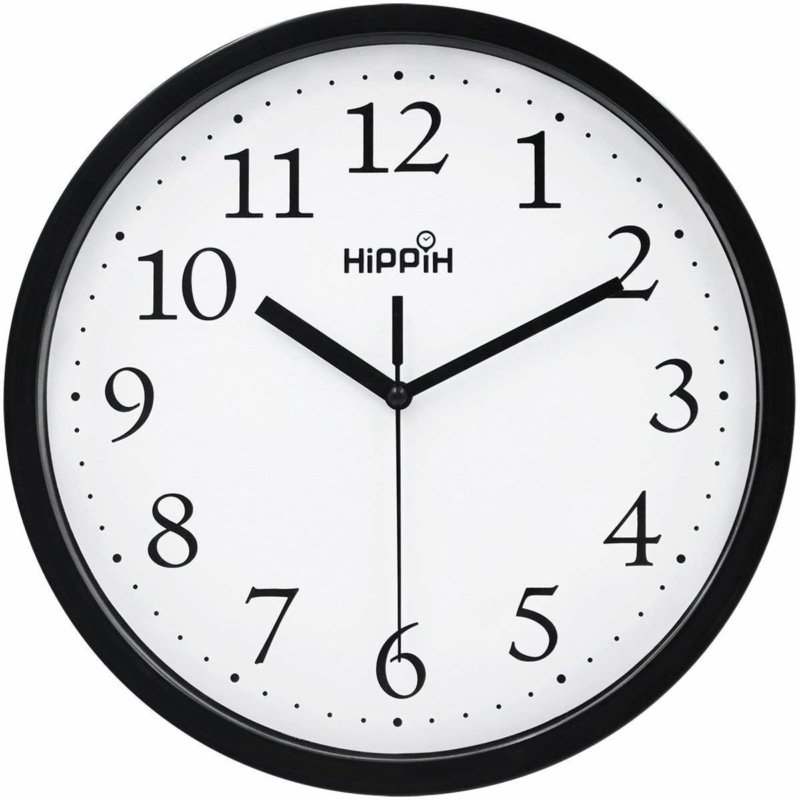 Hippih Black Wall Clock