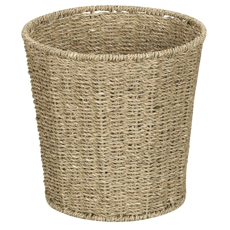 Household Essentials Woven Seagrass Wicker Waste Bin