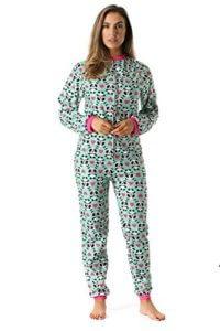 Just Love Printed Flannel Adult Onesie/Pajamas