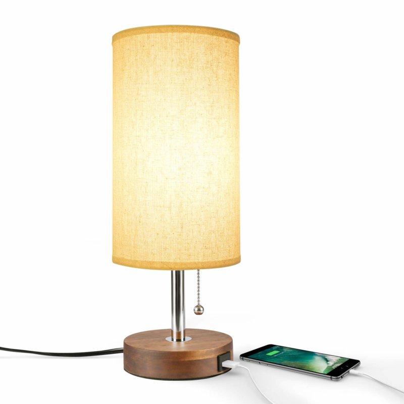 Seealle Modern Nightstand Lamp