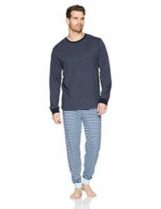 The Slumber Project Men's Long Sleeve Crew Neck Tee and Jogger Pajama Set